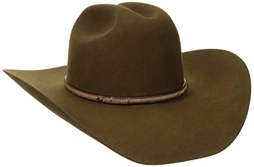 Stetson Men's Powder River 4X Buffalo Felt Cowboy Hat Mink 7 1/2 (Cowboy Hat Felt Brown)