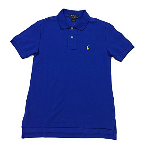 - Polo Ralph Lauren Boys Mesh Polo Shirt (Medium (10-12), Rugby Royal)