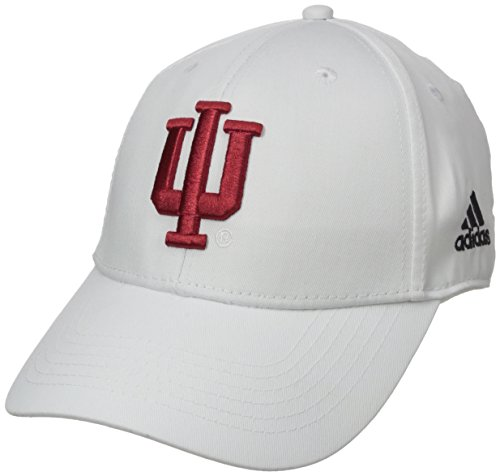 NCAA Indiana Hoosiers Men's Structured Adjustable Cap, One Size, White
