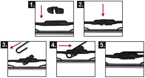 Tyota Previa Models 2000 To 2006 Alca Germany Standard Windscreen Wiper Blades 2818 Front Replacement ATU2818H