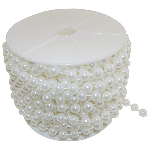Science Purchase Large Pearls Faux Crystal Beads by The Roll, 10mm, Ivory (Pearl Small Faux)