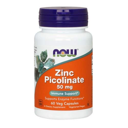 Now Foods Zinc Picolinate, 60 Capsules / 50 mg ( Multi-Pack)