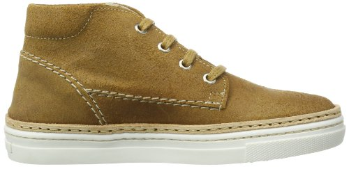 Pinocchio low laces boys simple P1927/142/36OS/0000/0000 Unisex-Baby Krabbelschuhe Braun (Natural  - Oiled Suede)