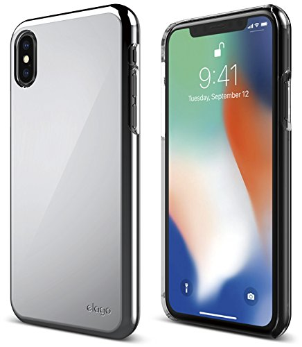 elago Slim Fit 2 Series iPhone Xs, iPhone X Case - Durable Scratch Resistant Coat Minimalistic Designed Protective Cover for Apple iPhone Xs (2018), iPhone X (2017) (Chrome)
