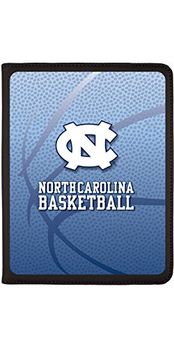 (North Carolina Basketball design on Black 2nd-4th Generation iPad Swivel Stand Case)