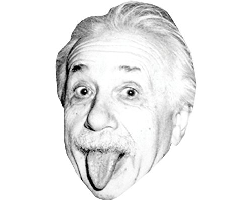 Albert Einstein (Tongue) Celebrity Mask, Card Face and