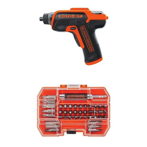 Black & Decker BDCS50C 4V Roto-BIT Storage Screwdriver with 42-Piece Standard Screwdriver Bit Set