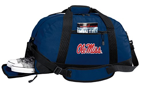 (Broad Bay University of Mississippi Duffel Bag - Ole Miss Gym Bags w/Shoe Pockets )