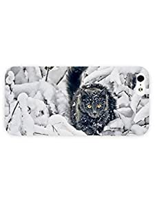 3d Full Wrap Case for iPhone 5/5s Animal Cat In The Snow99 by runtopwell