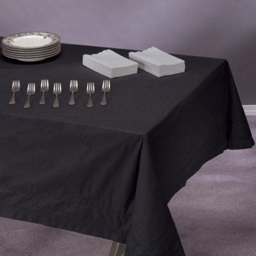 Tissue/Poly Tablecovers, 54'' x 108'', Black