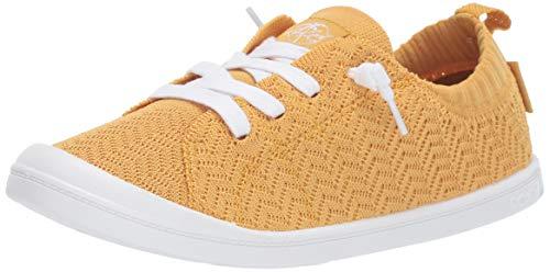 (Roxy Women's Bayshore Knit Slip On Fashion Sneaker Yellow Tone, 9 M US)