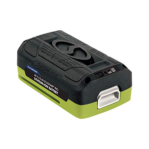 Snow Joe + Sun Joe iONMAX iBAT40XRP EcoSharp Pro Lithium-Ion Battery | 40 Volt | 6.0 Ah