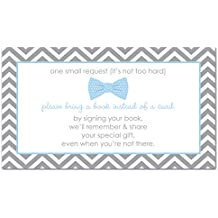 48 Bow Tie Bring A Book Card (Blue)