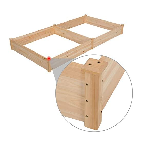 YAHEETECH Wooden Raised Elevated Garden Bed Kit with Legs Planter Flower Herb Boxes for Vegetables Flower with Shelf… 7 NATURAL ELABORATE MATERIALs: The raised garden bed is made of non-paint and natural wood which is known for its strength and stability. The thick solid boards are polished well to prevent any undesired injury caused by wood splinters. 2 TIERS & VERSATILE: This wooden planter features 2 tiers for planting and storing. You can cultivate plants, like vegetables, flowers, herbs in your patio, yard, garden, and greenhouse. Also, the lower shelf can be used for storage and display to put some planting tools and other accessories there. NICE-LOOKING GARDENING ACCESSORY: The natural color makes your garden and greenhouse more original and healthy, and its natural wood grain on the boards bring a rustic and natural style to your garden.