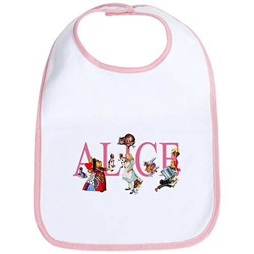 CafePress ALICE & FRIENDS IN WONDERLAND Bib Cute Cloth Baby Bib, Toddler Bib