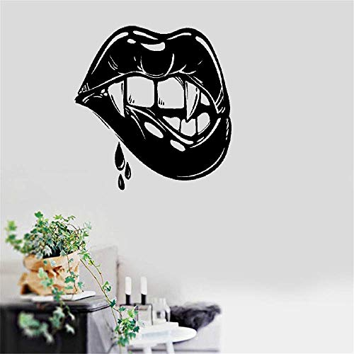 Yeazo Wall Stickers Quotes Vinyl Art Room Mural Posters Sexy Lips Vampire Fangs Girl Fantasy Halloween for $<!--$24.14-->