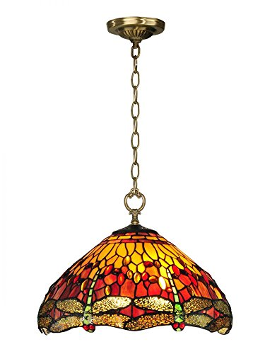 Dale Tiffany TH12270 Reves Dragonfly Hanging Fixture, 16