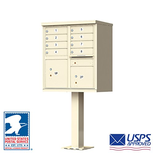 Cluster Mailboxes - 1570 Horizontal USPS Cluster Box Unit Finish: Sandstone Pebble