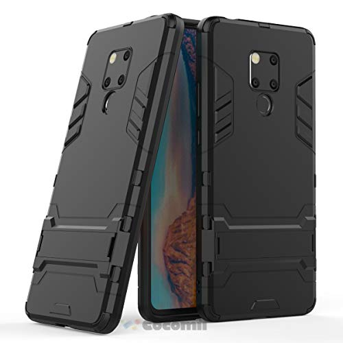 (Cocomii Iron Man Armor Huawei Mate 20 X Case NEW [Heavy Duty] Premium Tactical Grip Kickstand Shockproof Bumper [Military Defender] Full Body Dual Layer Rugged Cover for Huawei Mate 20 X (I.Jet Black))