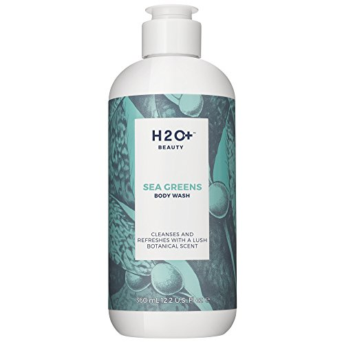 (H2O+ Beauty Sea Greens Body Wash, Cleanses and Refreshes with a Lush Botanical Scent, 12.2 Ounce)