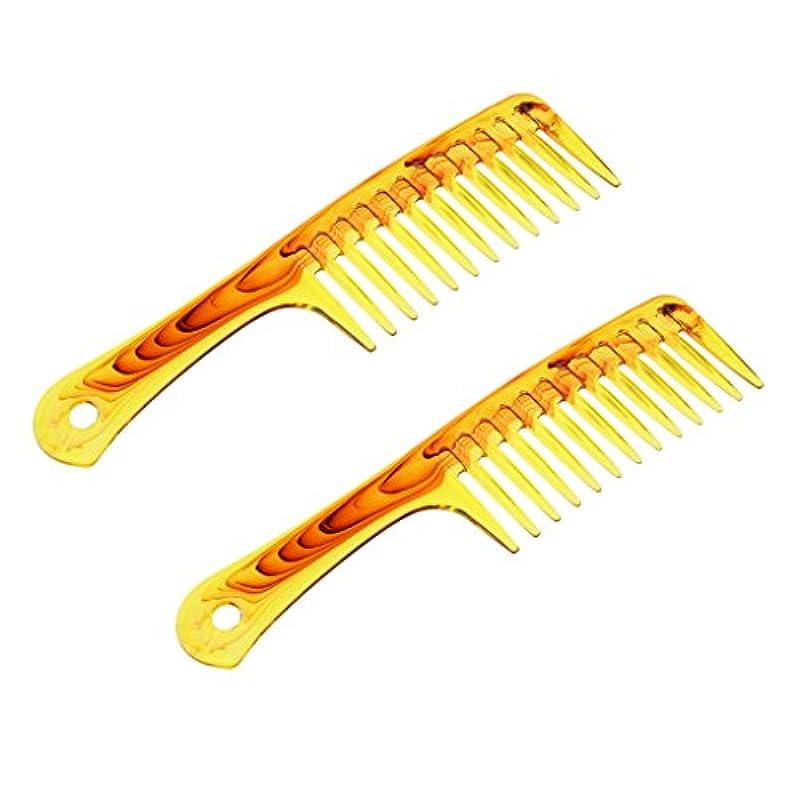 筋肉の義務モックCUTICATE 2個 ヘアブラシ サロン 帯電防止櫛 ヘアコーム