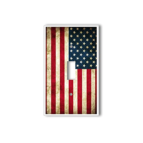 (Light Switch Single Wall Plate Cover By InfoposUSA Retro American Flag )
