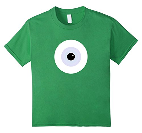 Awesome Halloween Costumes For College Guys (Kids Scary Monster Eyeball Halloween Costume Alternative T-Shirt 10 Grass)