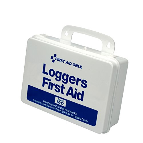 First Aid Only 5217 85 Piece Weatherproof Plastic Loggers First Aid Kit, 6-1/2 Length x 9-1/2 Width x 2-3/4 Height (American Safety And Health Institute First Aid)