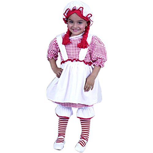 Child's Toddler Raggedy Ann Halloween Costume (2-4T) (Toddler Raggedy Ann Costume)