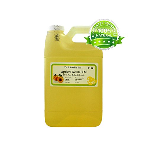 Apricot Kernel Oil Organic Pure Cold Pressed 64oz / 2 Quarters