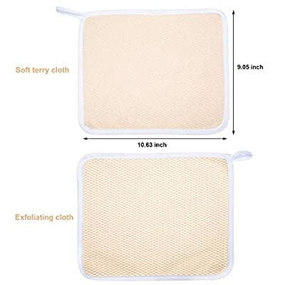 Exfoliating Face and Body Wash Cloths Towel Soft Weave Bath Cloth Exfoliating Scrub Cloth Massage Bath Cloth for Women and Man