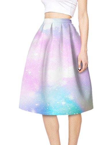 YICHUN Femme Jupe Plisse Court Jupon A-Line Jupe de Plage Impression Jupe de Soire Skirt Shorts Mini Robe 16#