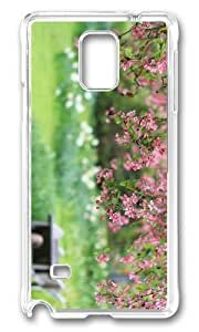MOKSHOP Adorable garden spring blooms Hard Case Protective Shell Cell Phone Cover For Samsung Galaxy Note 4 - PC Transparent