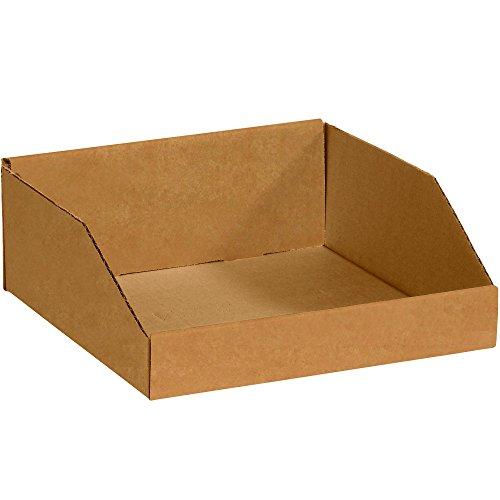 Partners Brand PBINMT121214K Open Top Bin Boxes, 12