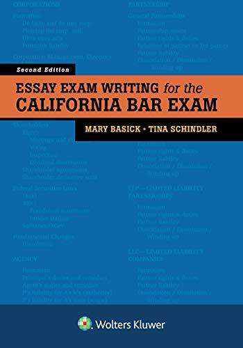Pdf Law Essay Exam Writing for the California Bar Exam