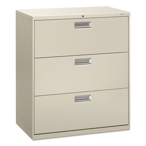 Filing Cabinet - 600 Series Lateral Legal or Letter File Cabinet, Light Gray (H683) (Full Suspension File 3 Drawer)