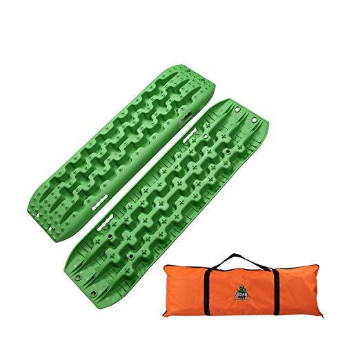 Boar Offroad New Recovery Traction Tracks Sand Mud Snow Track Tire Ladder 4WD (Green)