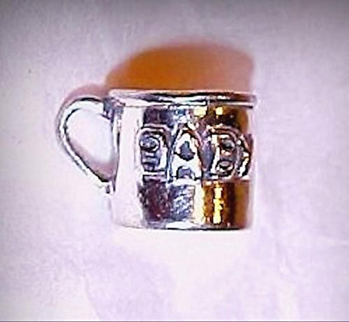 Dollhouse Miniature Sterling Silver Baby Cup 1:12 Scale Doll House Miniatures - My Mini Garden Dollhouse Accessories for Outdoor or House Decor - Cups/sterling Baby