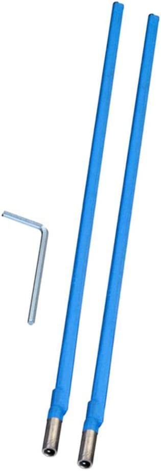 Homyl 2Pieces 420mm Truss Rod Bi-Directional Double Action With 4mm Hex Key Accessory For Guitar