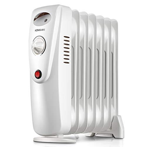 Heater GJM Shop Calentador De Radiador De Aceite 800W 7 Piezas Mini para La Oficina En El Hogar Mudo Calentador Eléctrico
