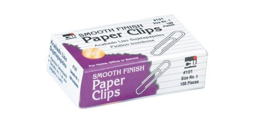 - Charles Leonard Premium Grade Smooth Paper Clips, Size #1, Silver, 100-Pack (101)