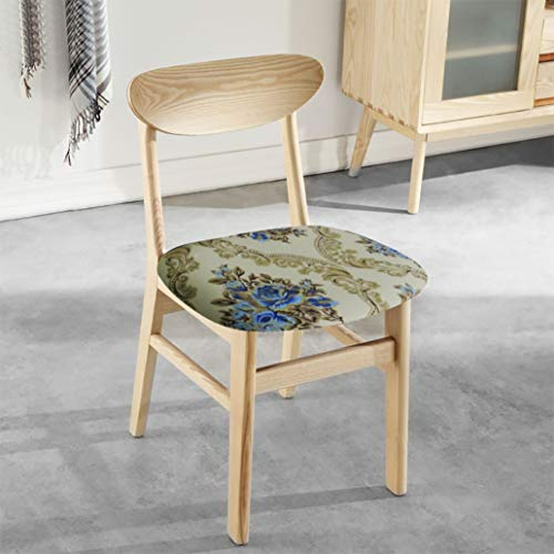 (US-WEE Printed Kitchen Stretch Dining Chair Cover Jacquard Seat Protector Covers Removable Elastic Seat Case Living Room Slipcover)