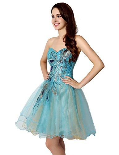 Buy light blue and black prom dresses - 3