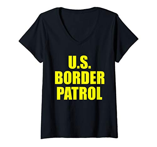 Womens Border Patrol costume US customs and border protection  V-Neck T-Shirt ()