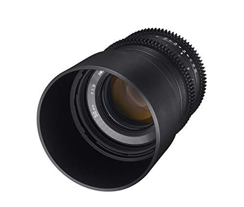 Lente de cine compacta de alta velocidad Rokinon CV50M-E 50 mm T1.3 para Sony E-Mount, negro