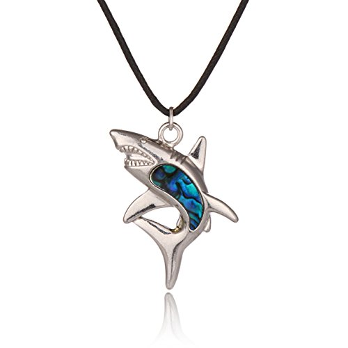 sterling silver shark necklace - 3