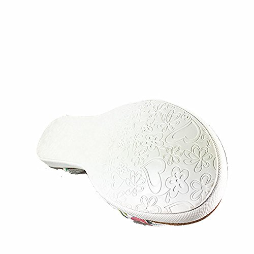 Sandalia piel plana blanca. Flores. Talla 330