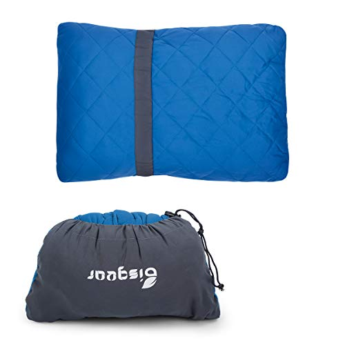 Bisgear Camping Pillow Compressible Memory Foam Pillows – Perfect for Backpacking,Airplanes Travel, Road Trips,Hammock…
