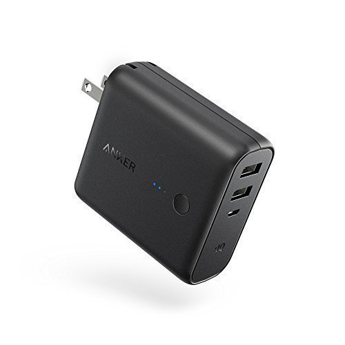 Anker PowerCore Fusion 5000mAh, Dual Port 2-in-1 Portable Charger and Wall Charger, with PowerIQ and Foldable Plug for iPhone, iPad, Android, Samsung Galaxy and More