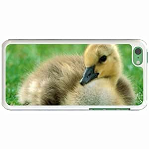 Custom Fashion Design Apple iPhone 5C Back Cover Case Personalized Customized Diy Gifts In Canadian gosling White